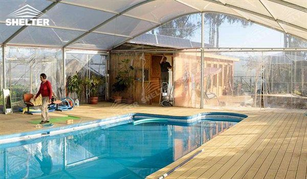 Swimming Pool Cover Sports Event Tents Large Exhibiton Marquee Outdoor Event Marquees Shelter White Tent For Swimming Pools Backyard Pool Shed Pool Cover