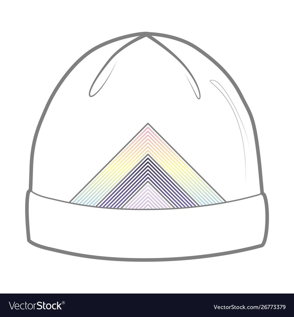 White Hat With Geometric Print Royalty Free Vector Image Aff Geometric Print White Hat Ad Blue Denim Coat Light Blue Denim Red Tracksuit