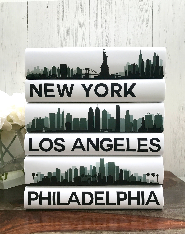 Coffee Table Books, Custom Cities Book Set, City Skyline
