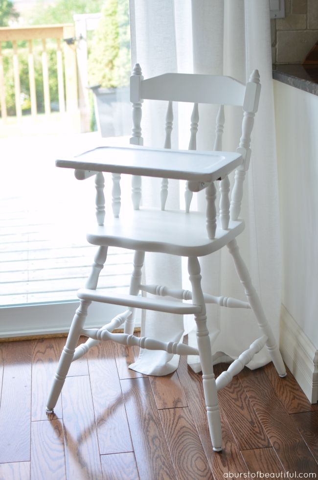 Painted vintage highchair a burst of beautiful vintage baby