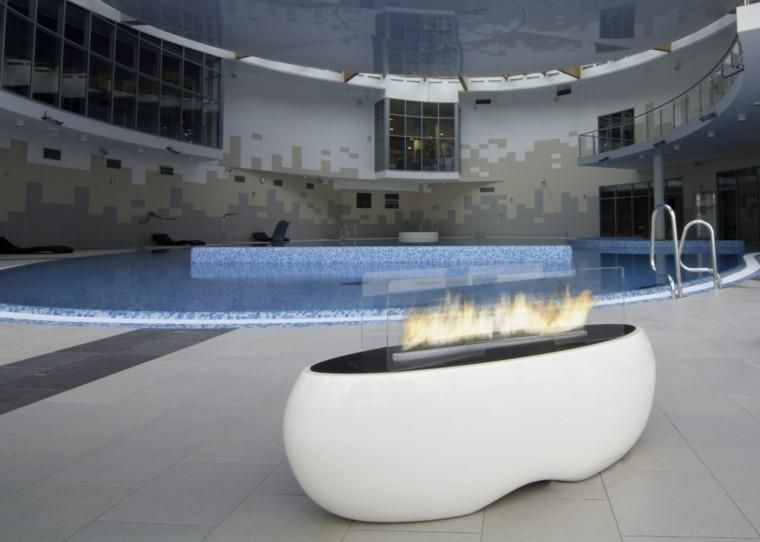 Zen fire pits in the garden or on the terrace garden and terrace
