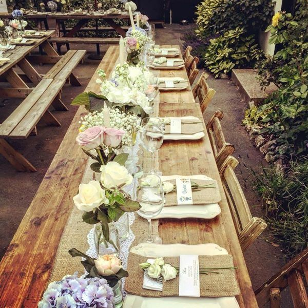Spring Summer Wedding At The Pub In The Beer Garden The Theme
