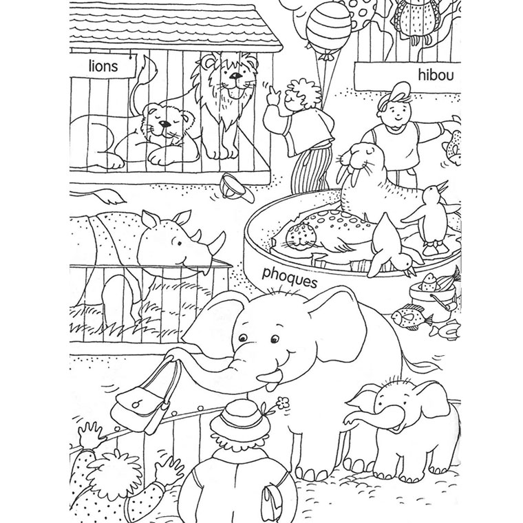 Coloriage Zoo Sans Animaux A Co Zoo Drawing Drawing Lessons Drawings