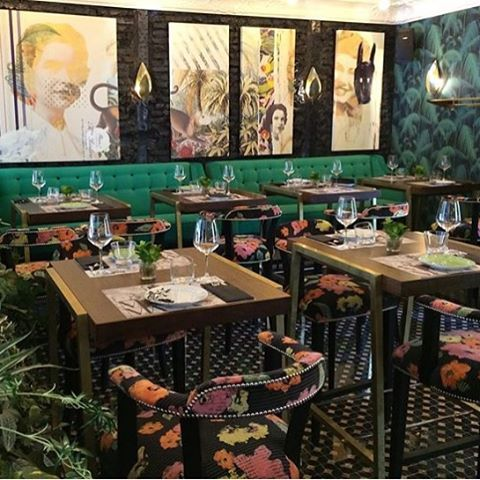regram @raul_lamarca Comedor Mama Tere, Leon Palm Jungle in a - restaurant statement