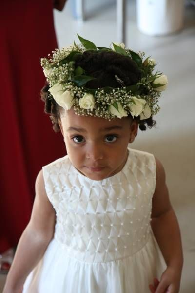 Hairstyle for kids wedding dresses