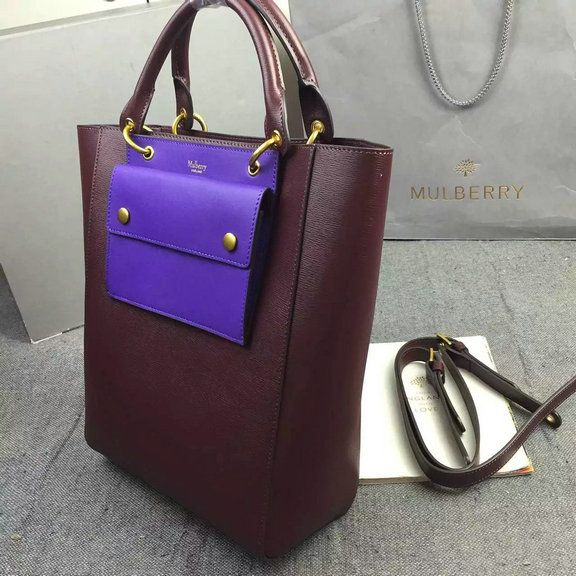 c81956ad5805 2016 A W Mulberry Maple Tote Bag Burgundy Printed Goat Leather  HH3865- Burgundy