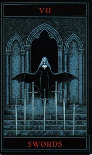 The Gothic Tarot: Seven of Swords