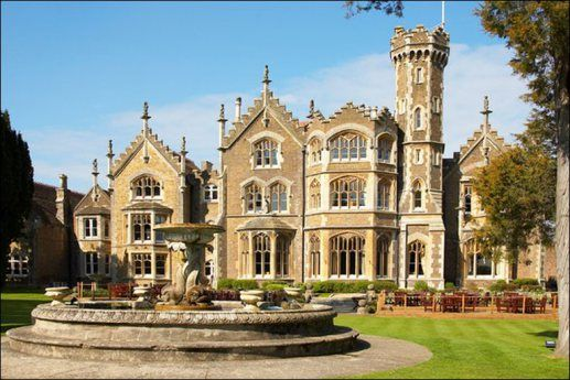 Oakley Court is a Victorian Gothic country house overlooking the River Thames at Water Oakley in Bray in the English county of Berkshire. It was built in 1859 and is currently a luxury hotel. In the past, it has been often used as a film location.