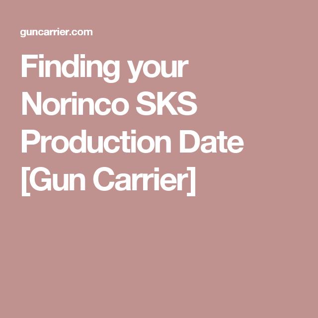 Norinco sks dating