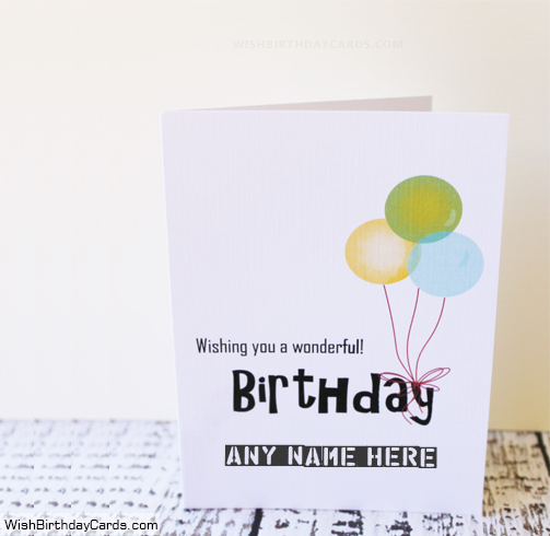 Wishing You A Birthday Cards With Name Hbd Wishes Pinterest