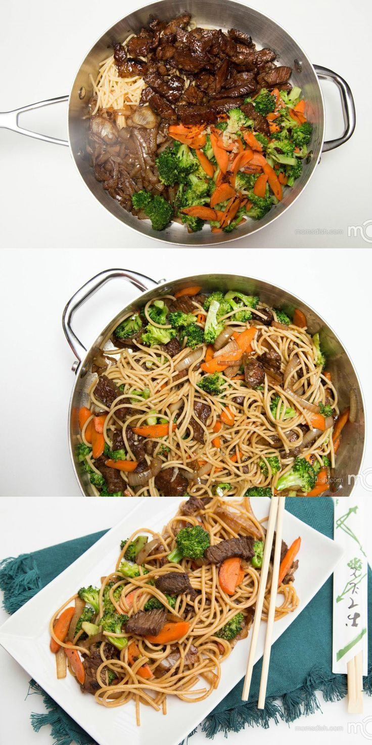 Beef Lo Mein Recipe - Easy Beef Lo Mein |Momsdish