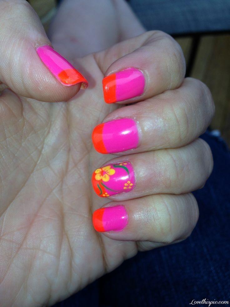 Luau Nails - pretty summer nail art #nails #nailart #naildesign ...