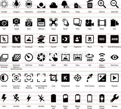Camera Settings Icon Set Camera Icon Camera Film Tattoo Camera