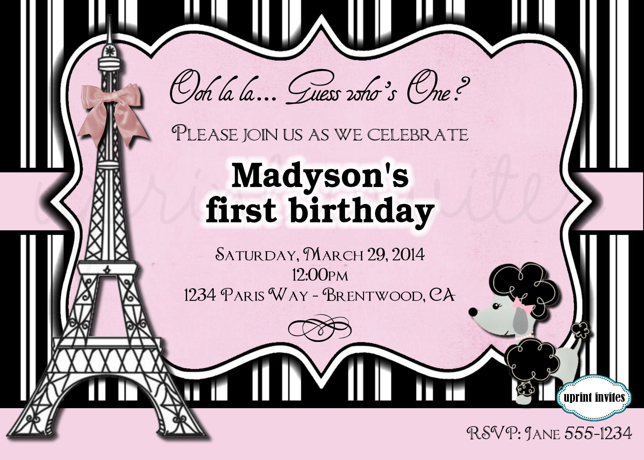www uprint com templates - paris ooh la la invitation template