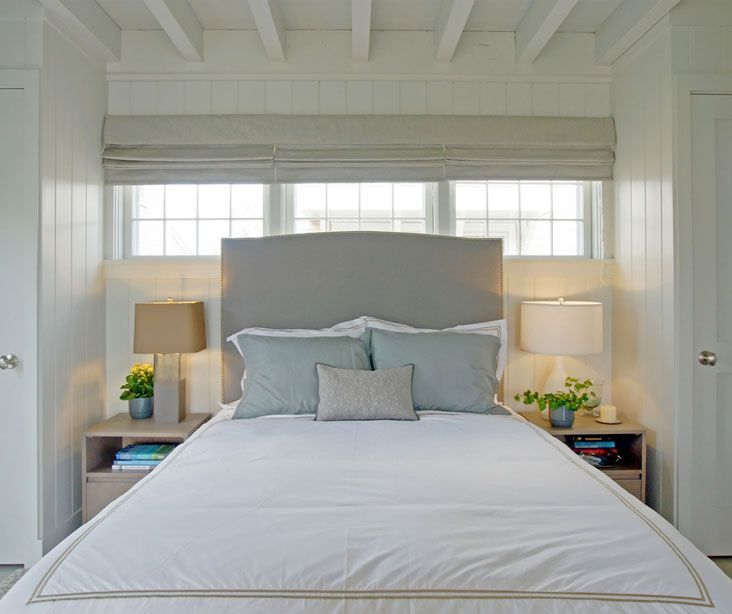 Windows Behind Bed Closets Flanking
