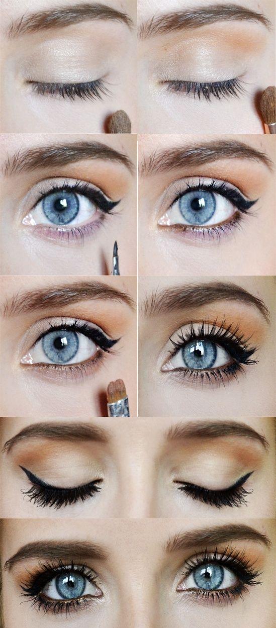 Tuto Makeup  Maquillage des yeux bleus