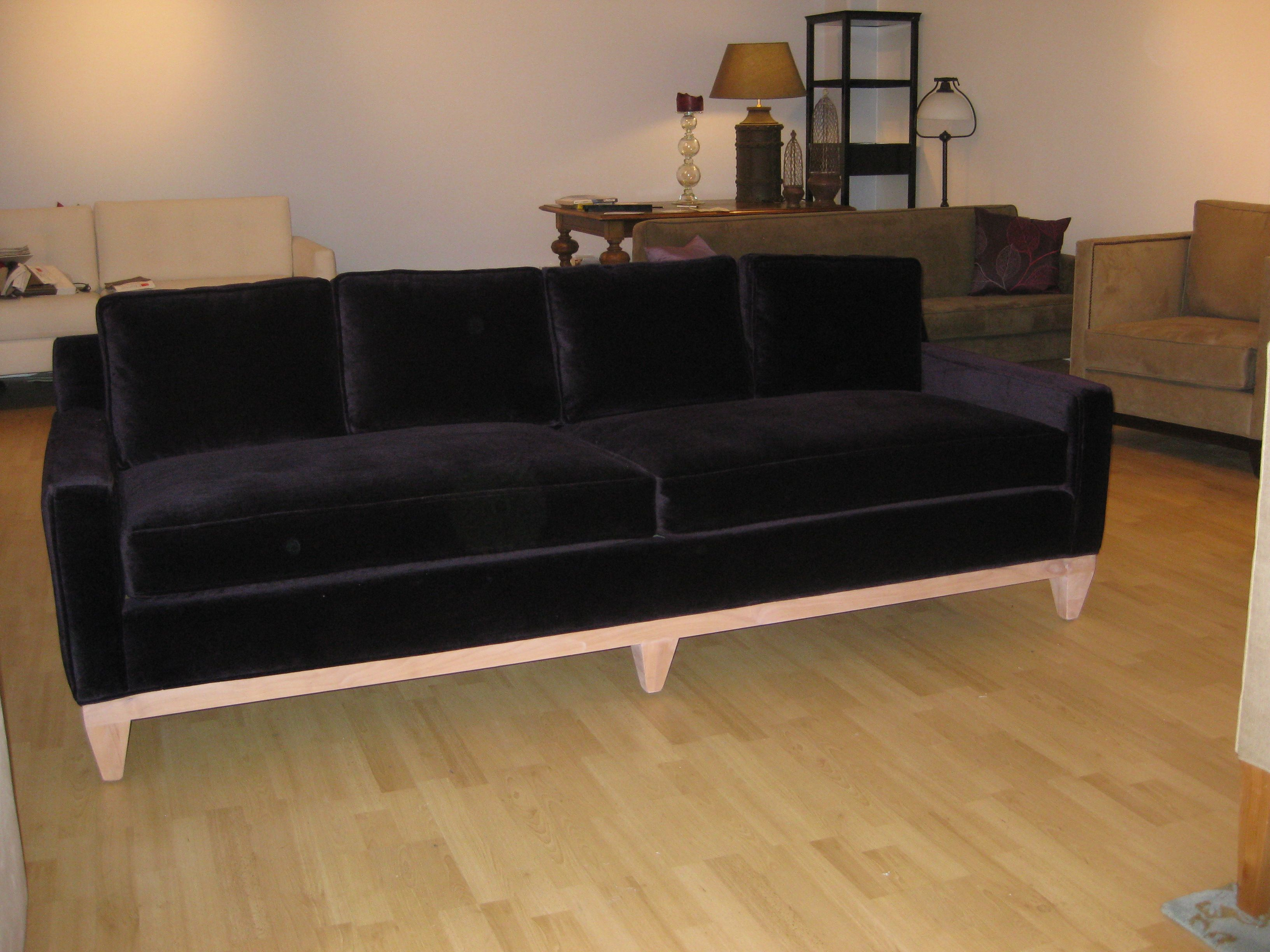 Black velvet couch House Pinterest