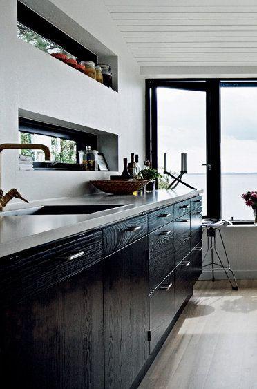 10 Diseños de cocinas sin muebles altos | Casas | Kitchen, Kitchen ...