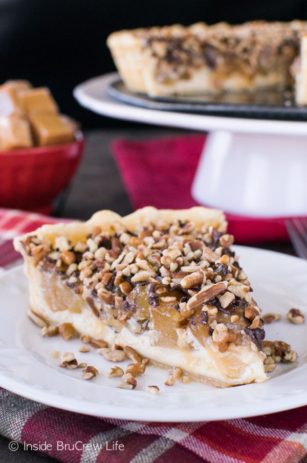 Apple Turtle Cheesecake Tart FoodBlogs.com
