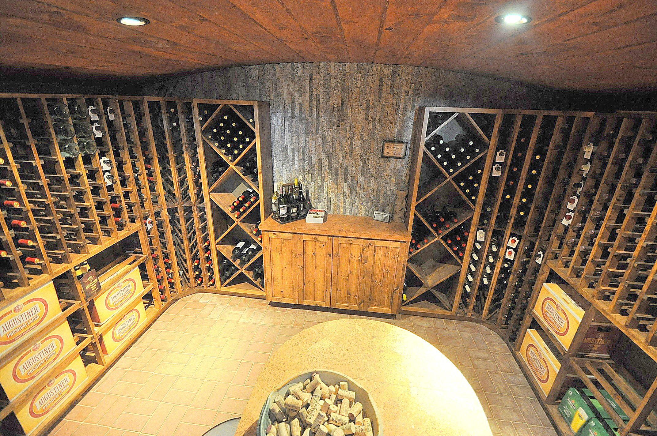 Wine cellar in recycled granite split stone tile recycledgranite