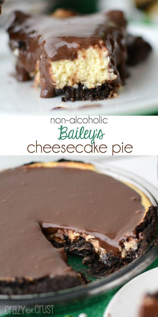 Non-Alchoholic Bailey's Cheesecake Pie  with an Oreo crust!