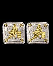 Montana Silversmiths 2Tone Barrel Racer Earrings - www.fortwestern.com