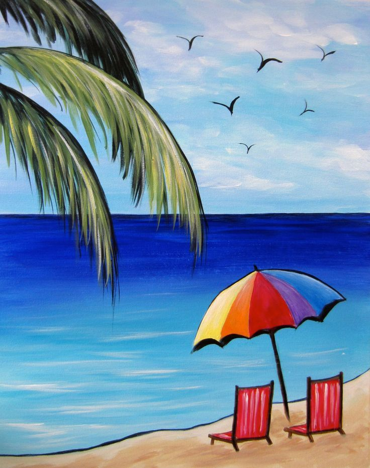 Image Result For Easy Summer Acrylic Painting