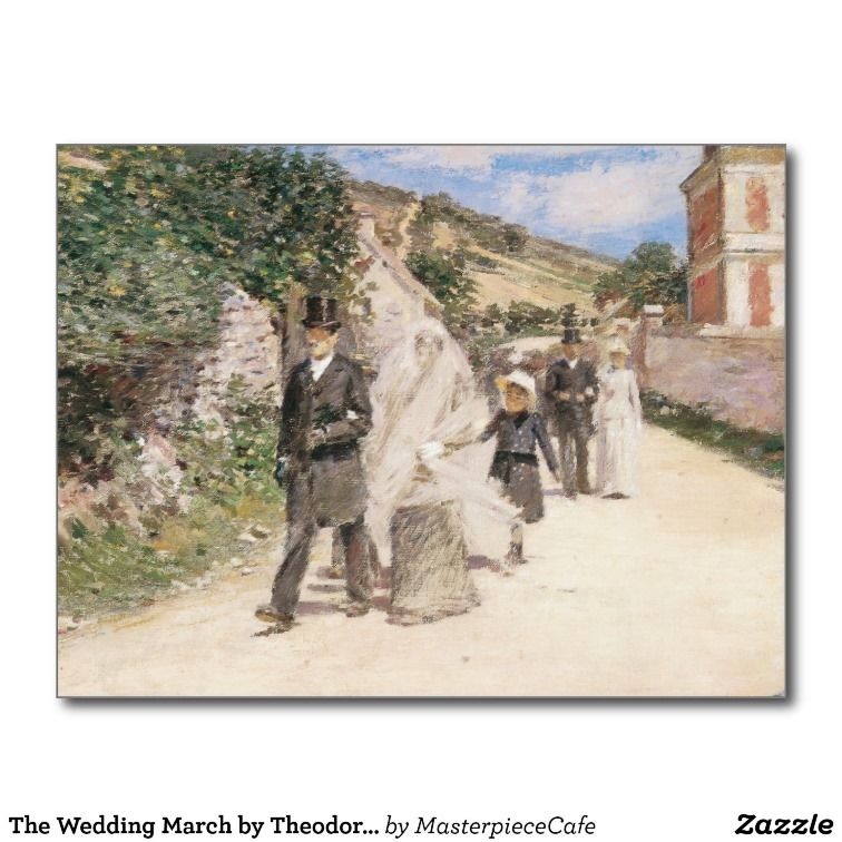 The Wedding March By Robinson Vintage Newlyweds Postcard