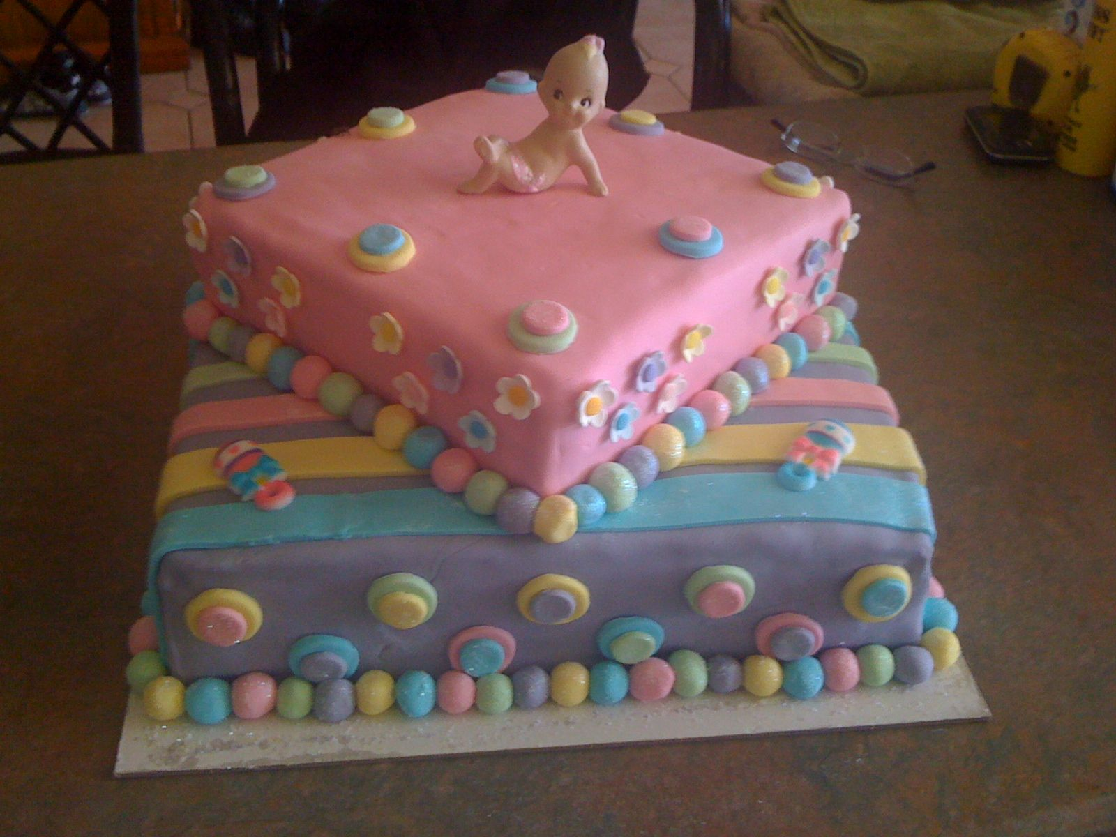 Rainbow baby shower cake Amazing cakes & desserts