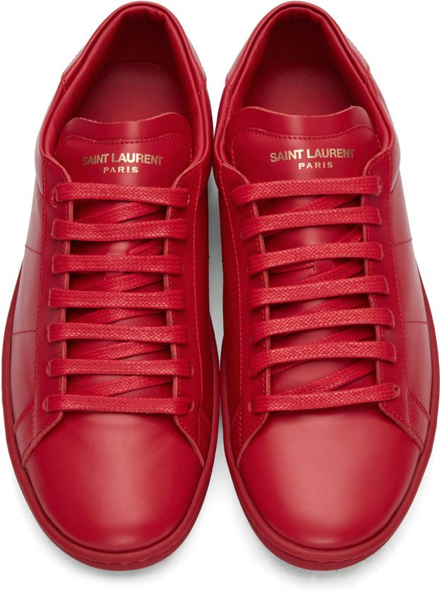 66434712 Saint Laurent - Red Court Classic SL/01 Sneakers | Kay in 2019 ...