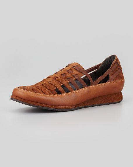 Stuart Weitzman - Move In Strappy Elastic Sneaker, Tobacco/Twig