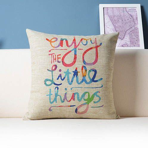 Enjoy The Little Things Pillow Almohada Disenos De Unas Ropa De Hogar