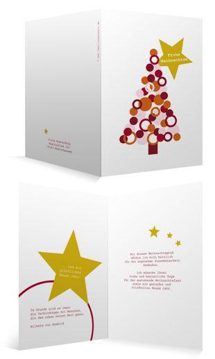 Weihnachtskarten Mit Firmenlogo.Weihnachtskarte Mit Tannenbaum Für Firmen Innen Individuell