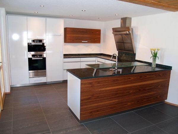 Moderne Küche Innenraum - Erstaunlich Dekor Stil Küche - küche u form mit insel