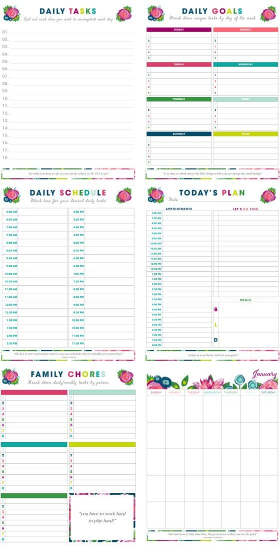Free Printables Planner Printables Free Organizational Printables Organization Help
