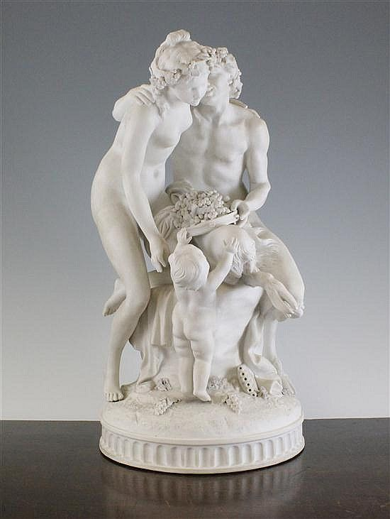 A Sevres Style Biscuit Porcelain Group Of Pan And A Bacchante Marble Art Marble Sculpture Ceramic Sculpture