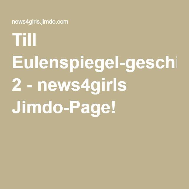 Till Eulenspiegel Geschichten 2 News4girls Jimdo Page Mit
