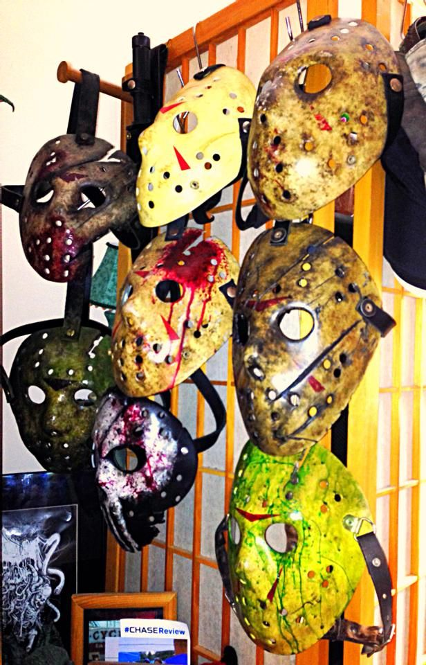Friday the 13th custom hockey masks by frighteousfx