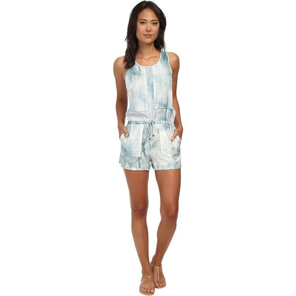 fa88223c8caa Calvin Klein Jeans Patch Front Romper Women s Jumpsuit   Rompers One...  ( 33) ❤ liked on Polyvore featuring jumpsuits
