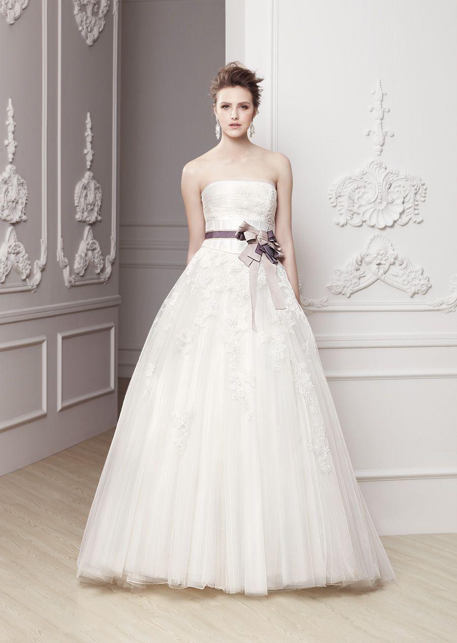 Rose colored wedding dress  Свадебные платья Modeca купить в Киеве цена фото u свадебный салон