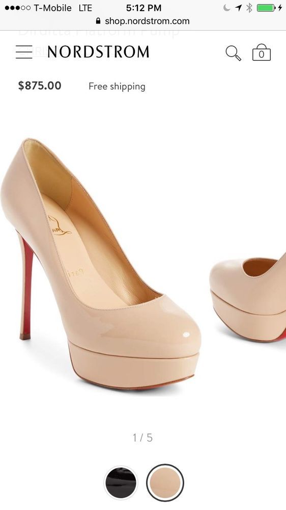 850264d20344 New Christian Louboutin women shoes 37 Dirditta Platform Pump Nude with  receipt  fashion  clothing