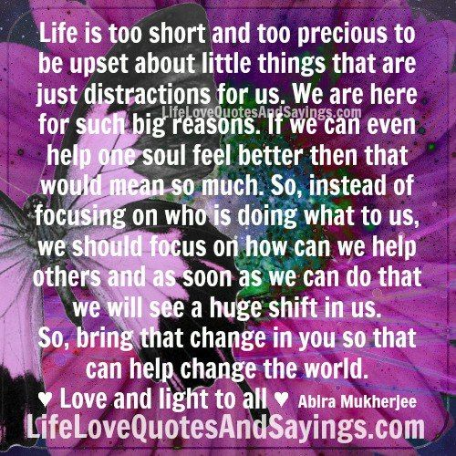 Life Is Too Short Quotes Biblical