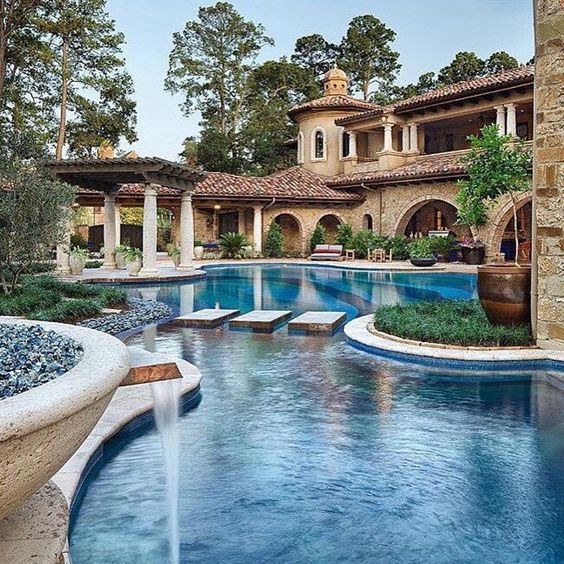 Pin by Veronica Chang on Homes   Luxury homes Tuscan house Mega mansions