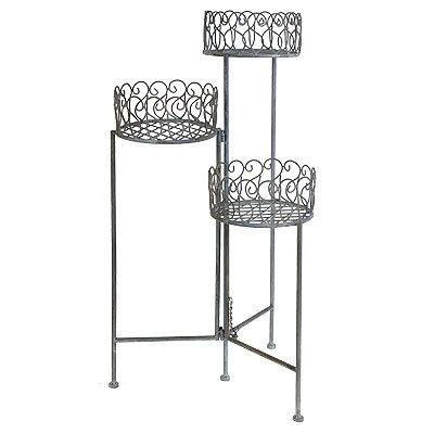 3 Tier Metal Foldable Plant Stand Flower Shelf 33 5