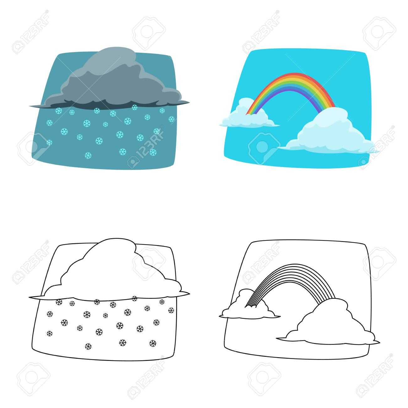Vector design of weather and climate sign. Collection of weather and cloud stock symbol for web. , #Sponsored, #climate, #sign, #weather, #Vector, #design