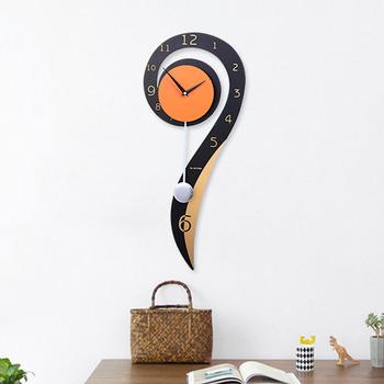 Pendulum Wall Clock Personalized Wooden Decorative Modern Silent Clock Decorative Modern Pendulum In 2020 Contemporary Wall Clock Clock Wall Decor Wall Clock Luxury