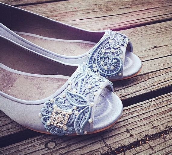 French Pleat Bridal Open Toe Ballet Flats Wedding Shoes All