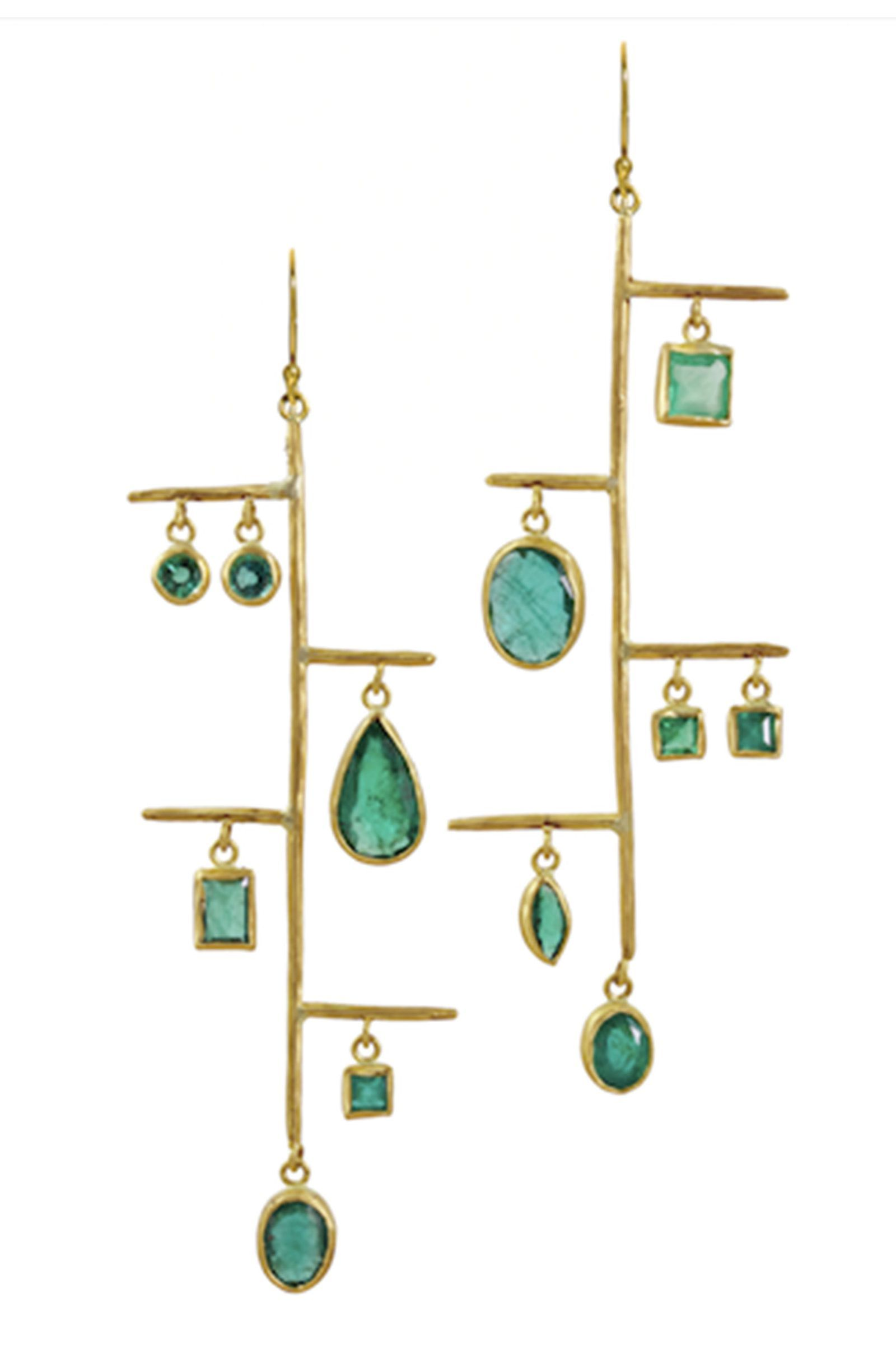 c7c589d2d 7 Under-the-Radar Jewelry Designers to Know Now Margery Hirschey Emerald  and Gold Earrings, price upon request; margeryhirschey.com