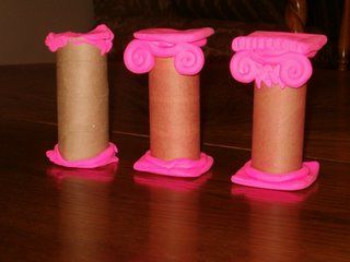 model of Greek columns