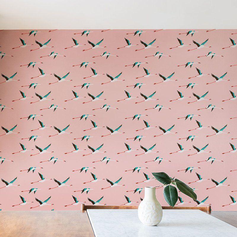 Holli Zollinger Flamingo Peel And Stick Wallpaper Roll Wallpaper Roll Brick Wallpaper Roll Wallpaper Panels